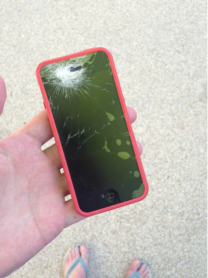 iphone 5 smashed
